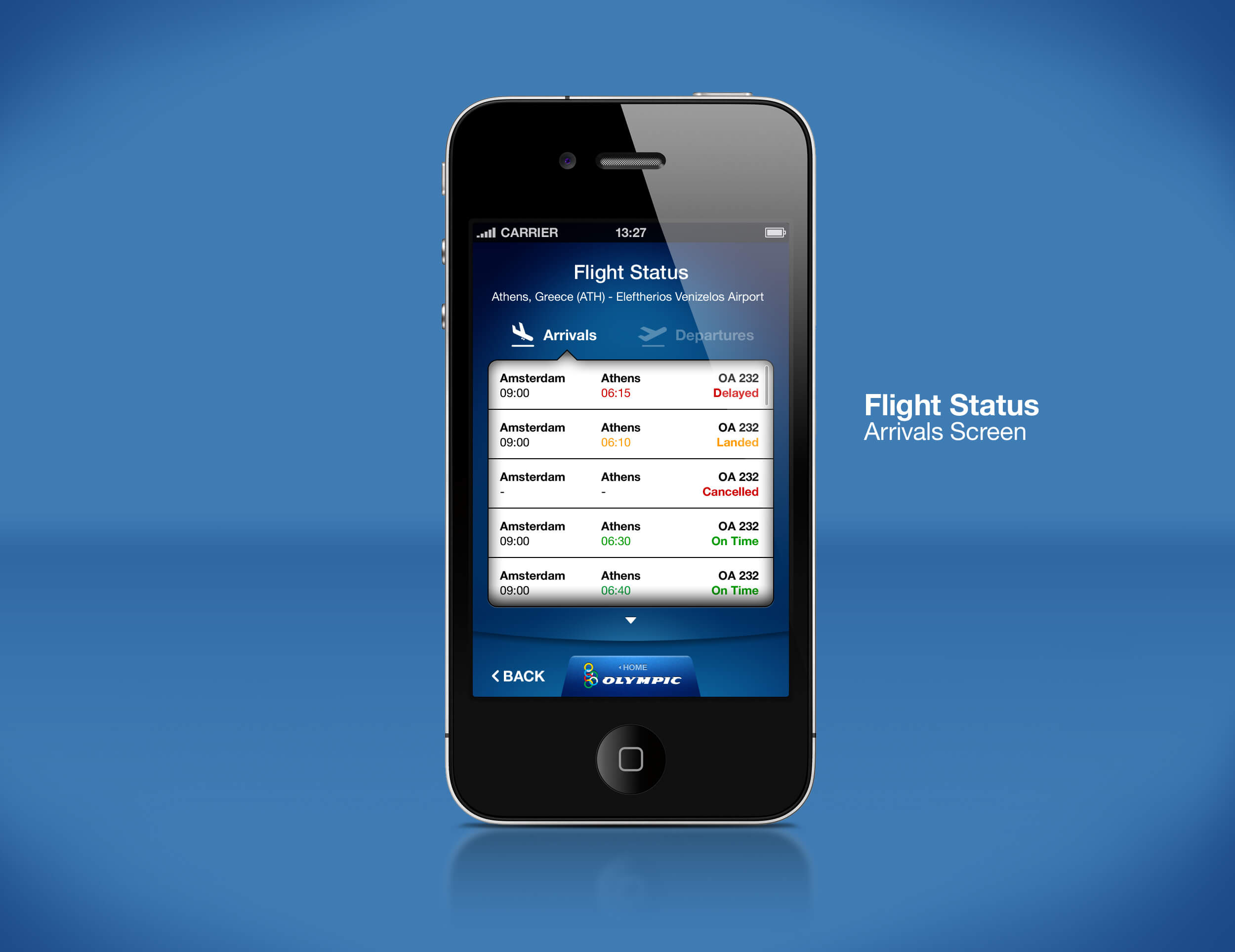 Airline Mobile App Flight Status