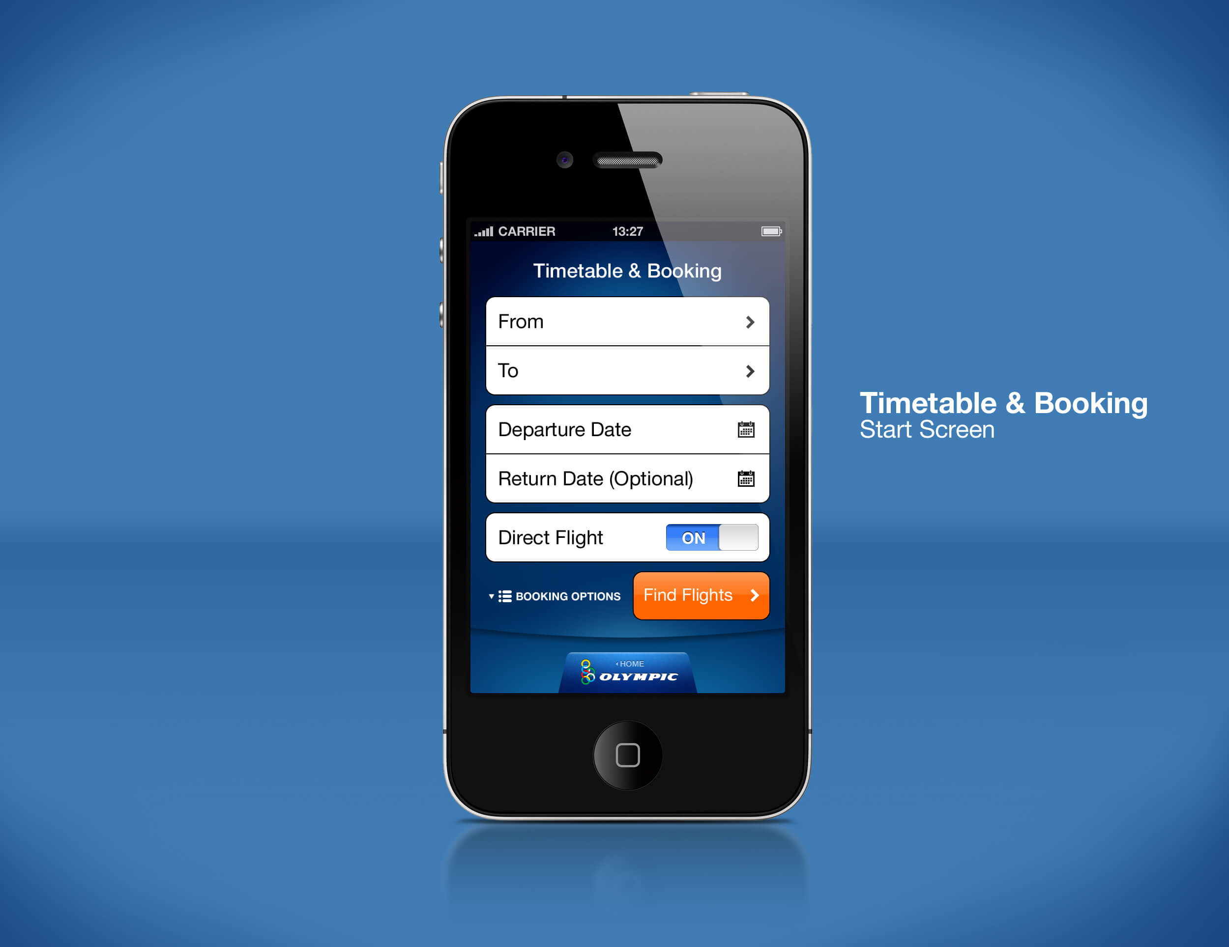 Airline Mobile App Timetable & Booking