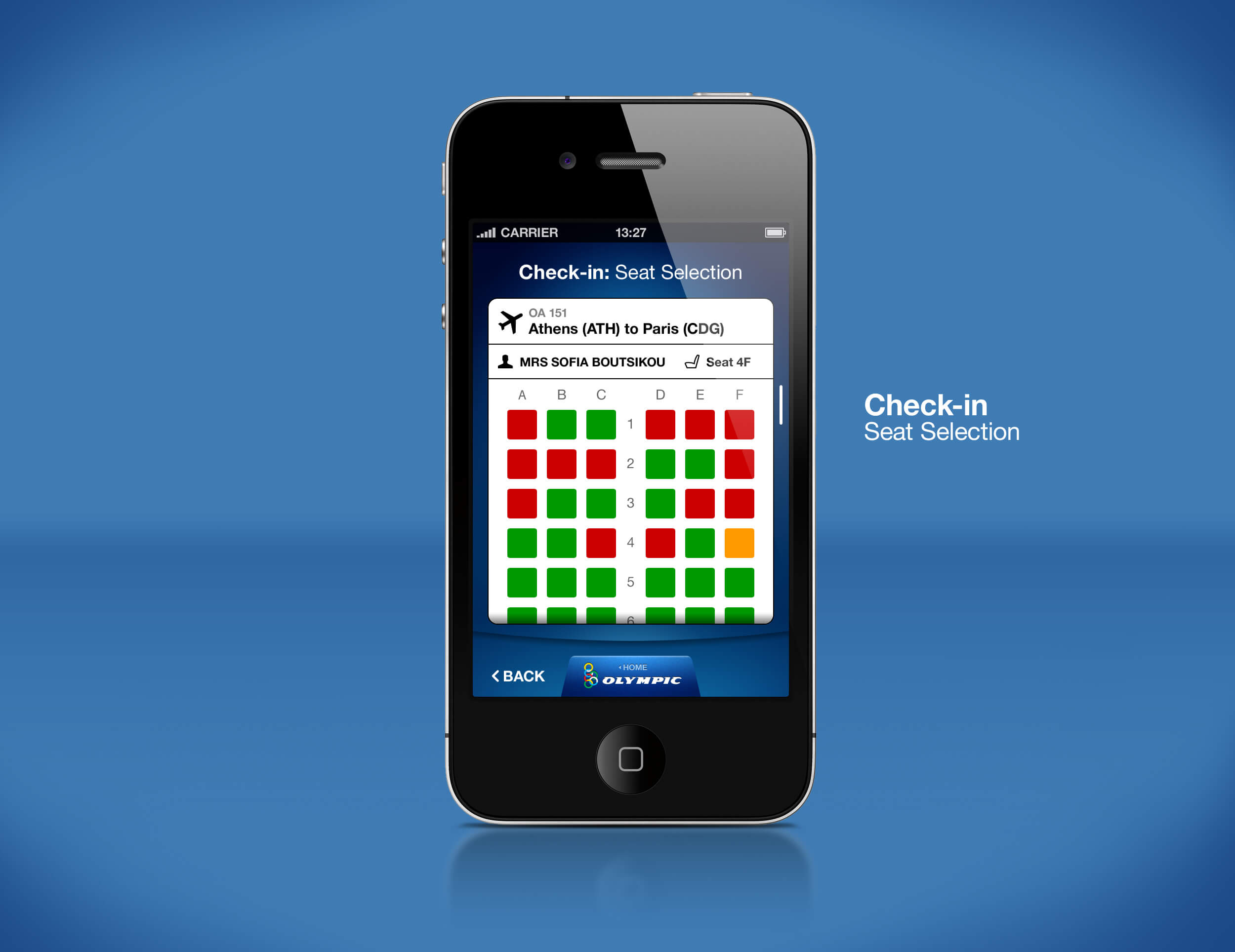 Airline Mobile App Check-in