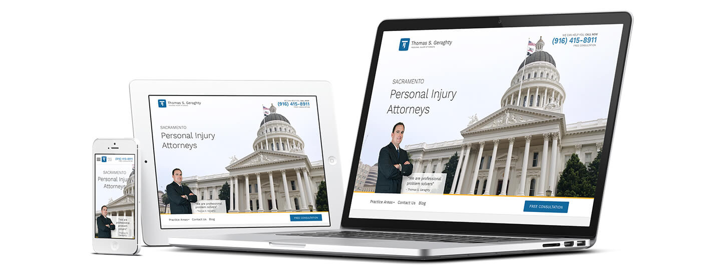Thomas S. Geraghty Law Firm Redesign - Responsive Design